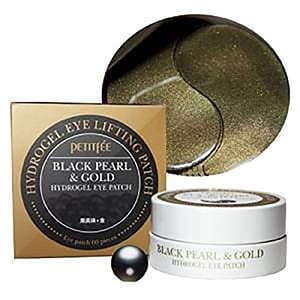 Black Pearl and Gold Hydrogel Eyepatch