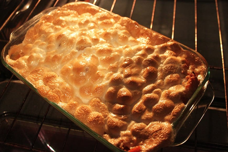 Coconut Infused and Marshmallow Topped Sweet Potato Casserole Oven