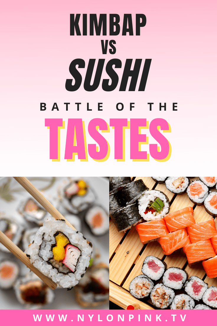 if you're a fan of rolls, you're definitely going to want to read about this showdown article, Kimbap vs Sushi! We cover what makes each great, and in the end we choose a winner. Find out which roll wins! #kimbap #sushi #japanesefood #koreanfood #asianfood #sushirolls #rolls
